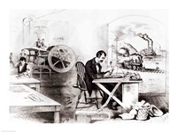 The Progress of the Century: The Lightning Steam Press, the Electric Telegraph, the Locomotive and the Steamboat - various sizes - $16.49