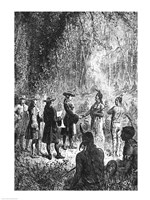 Moravian Missionaries Among the Indians - various sizes