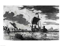 Arrival of the English at Roanoke - various sizes, FulcrumGallery.com brand