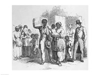 A Slave Father Sold Away from his Family Fine Art Print