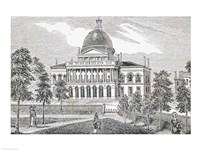 Southern view of the State House in Boston Fine Art Print