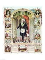 George Washington as a Freemason - various sizes