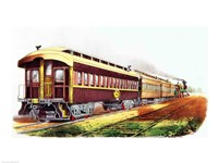 The Lightning Express Fine Art Print