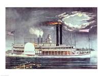 Moonlight on the Mississippi Framed Print