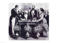 Professor Samuel Finley Breese Morse Explaining the Function of his Invention - various sizes