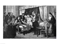 Performing the Operation of the Transfusion of Blood at the Hospital of Pity Fine Art Print