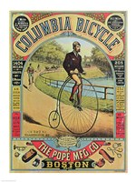 Advertisement for the Columbia Bicycle - various sizes