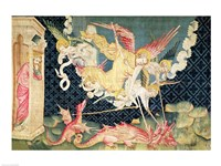 St. Michael and his angels fighting the dragon Fine Art Print