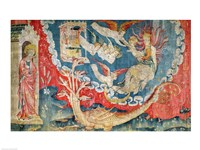 The Woman About to Give Birth and the Great Dragon Waiting to Devour the Infant Fine Art Print