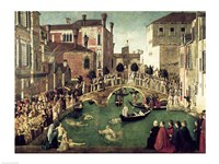The Miracle of the Cross on San Lorenzo Bridge Fine Art Print
