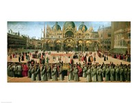 Procession in St. Mark's Square, 1496 Fine Art Print