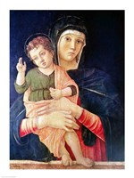 The Virgin and Child Blessing Fine Art Print