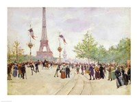Entrance to the Exposition Universelle, 1889 Fine Art Print