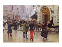 The Boulevard des Capucines and the Vaudeville Theatre, 1889 Fine Art Print