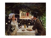 Dinner at Les Ambassadeurs Fine Art Print