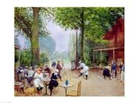 The Chalet du Cycle in the Bois de Boulogne, c.1900 Fine Art Print