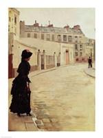Waiting, Rue de Chateaubriand, Paris Fine Art Print