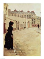 Waiting, Rue de Chateaubriand, Paris Fine Art Print