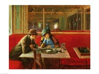 At the Cafe Fine Art Print
