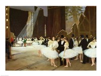 In the Wings at the Opera House, 1889 Fine Art Print