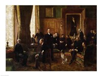 The Salon of the Countess Potocka, 1887 Fine Art Print