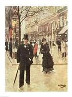 On the Boulevard Fine Art Print