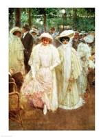 The Gardens of Paris - detail Fine Art Print