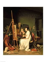 Artist's Studio by Louis-Leopold Boilly - various sizes, FulcrumGallery.com brand