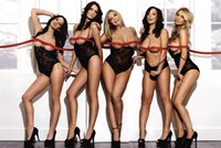 "Five Girls Red Ribbon - 36"" x 24"""