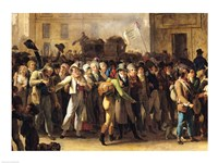 The Conscripts of 1807 Marching Past the Gate of Saint-Denis Fine Art Print