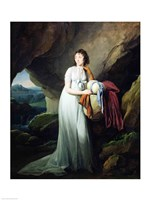 Portrait of a Woman in a Cave Fine Art Print