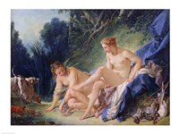 Diana getting out of her bath, 1742 Fine Art Print
