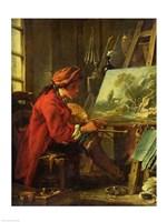 The Painter in his Studio Fine Art Print