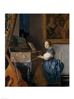 A Young Lady Seated at a Virginal by Johannes Vermeer - various sizes