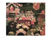 Parinirvana, from 'The Life of Buddha Sakyamuni' Fine Art Print