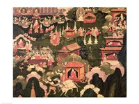 Parinirvana and the Death of Buddha - various sizes