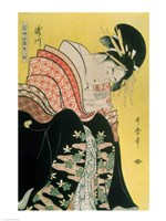 Takigawa from the Tea-House, Ogi Framed Print