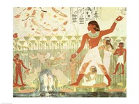 Hunting and Fishing, from the Tomb of Nakht Fine Art Print