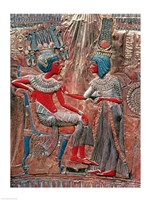 The back of the throne of Tutankhamun Fine Art Print