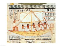 Boatmen on the Nile, from the Tomb of Sennefer Fine Art Print