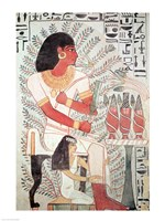 Sennefer seated with his wife, Meryt, from the Tomb of Sennefer Fine Art Print