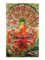 Scenes from the life of Buddha Fine Art Print