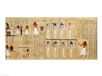 Mythological papyrus of Imenemsaouf Fine Art Print