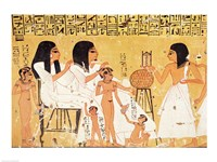 The dead, their family and their servants, from the Tomb of Ankerkhe Fine Art Print