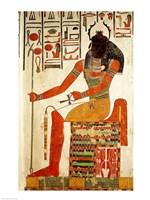 The god, Khepri Fine Art Print