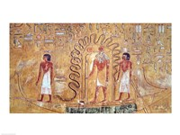 The sun god Ra in his solar barque Fine Art Print