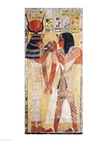 The Goddess Hathor placing the magic collar on Seti Fine Art Print