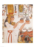 Nefertari Making an Offering, from the Tomb of Nefertari Fine Art Print