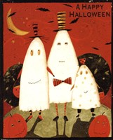 Happy Halloween Ghosts Fine Art Print