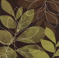 """Fall Leaves II by Kristin Emery - 12"""" x 12"""", FulcrumGallery.com brand"""